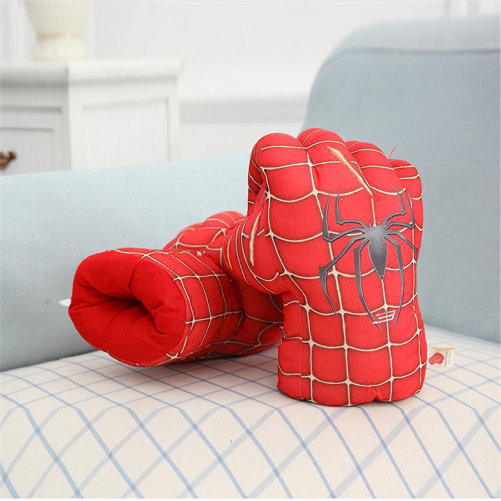 2pcs/pair Party Superhero Costume Hulk Spiderman Hands Gloves Boxing Gloves For Kids Children Funny Toys Glove