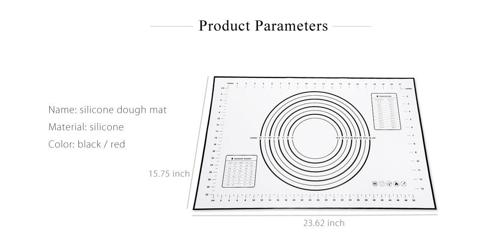 Silicone Heat Resistance Dough Flour Mat Table Pad