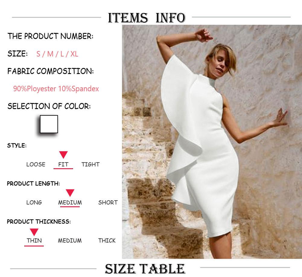 e80fb0451e New Trendy Women Dress Sleeveless Turtle Neck Ruffle Summer Boho ...