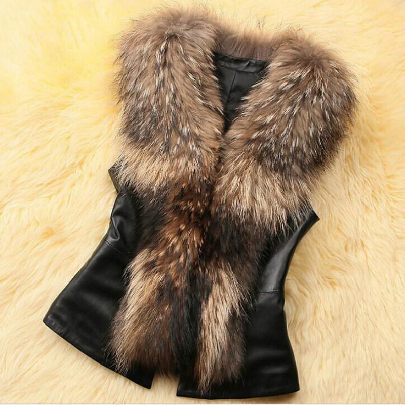Pour femme manteau en fourrure synthétique ceinture sans manches gilet veste à capuche parka Outwear