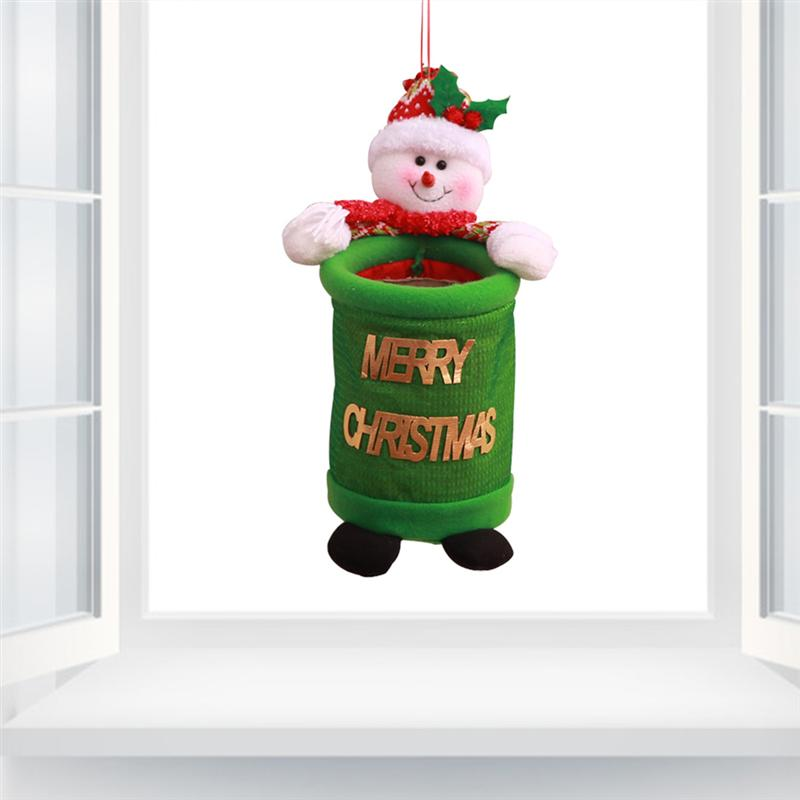 Christmas Trash Cans Hanging Cartoon Creative Cute Xmas Tree Decor Storage Bags Gift for Mall Home Festival