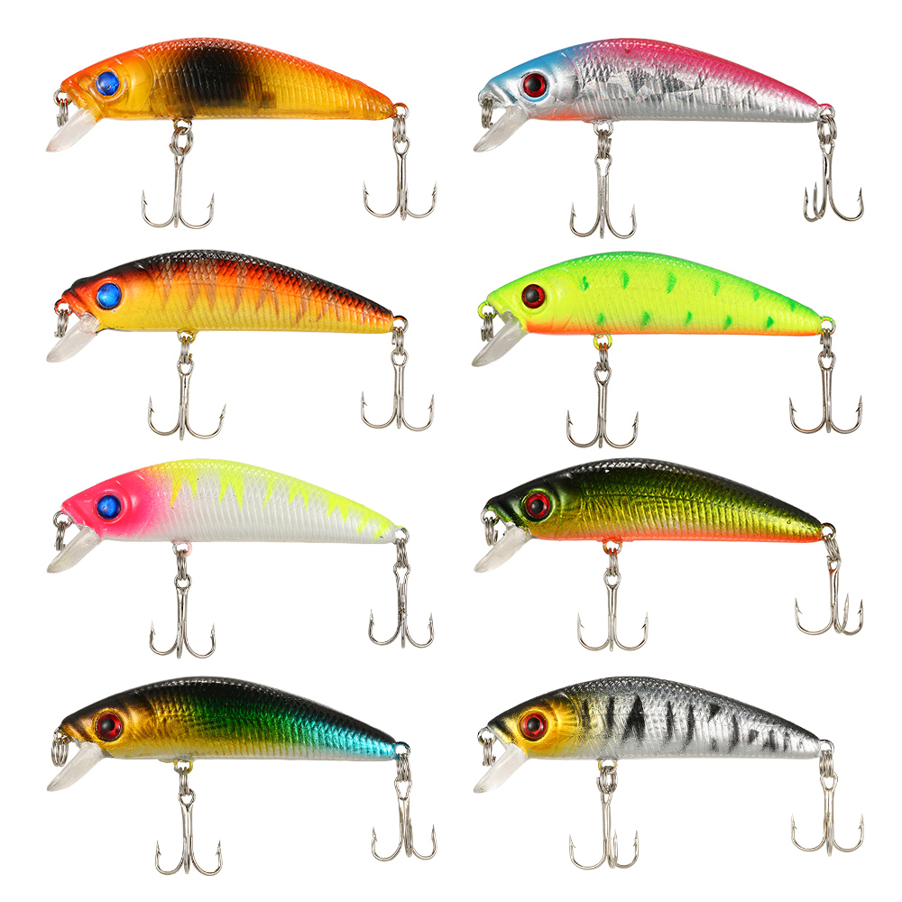 Fishing Lures Set Mixed Minnow Lures Crank Lures Fishing Tackle Lure Kit Set for Freshwater Saltwater Pesca