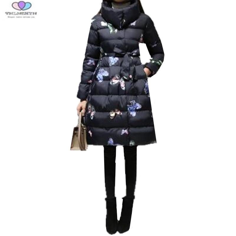 2017 New Winter Women Coat Fashion Thick Down Cotton Jacket Fashion Warm  Cotton Jacket Plus Size M-5XL TNLNZHYN E255 e389764ff