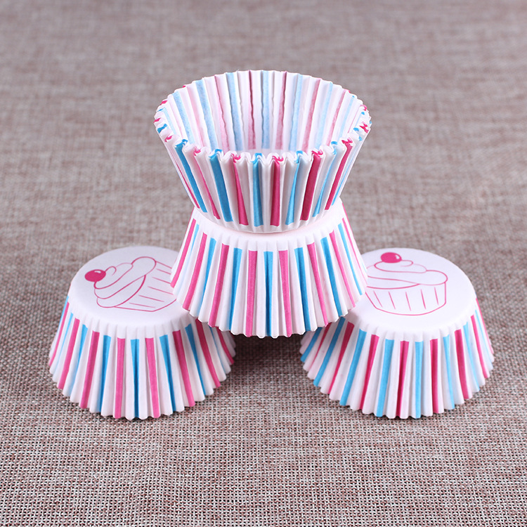 Colorful Paper Cake Cupcake Liner Baking Muffin Box Cup Case Party Tray Cake Mold Decorating Tools party Paper Cupcake FFA1174