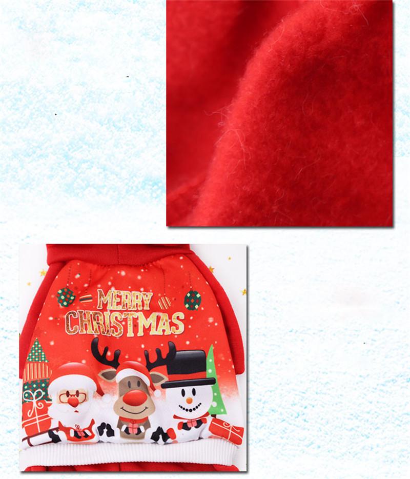 Noël Animaux Chien Pull Vêtements D'hiver D'hiver Santa Santa Renne À Capuche Costume À Capuche Manteau Vêtements Costume Mignon Chiot Outfit Chiens Vêtements Rouge Nouveau