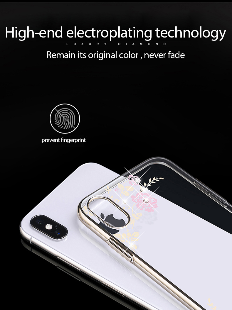 KINGXBAR Case for iPhone Xs Case Gorgeous for iPhone Xs Max Cover Luxury for iPhoneXs Cover Transparent Crystals from Swarovski (8)