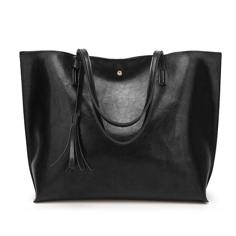 Nevenka Leather Handbag Women Casual Totes Female Shopper Ladies Shopping Bags Large Capacity Bags Vintage Bag for Women 201812