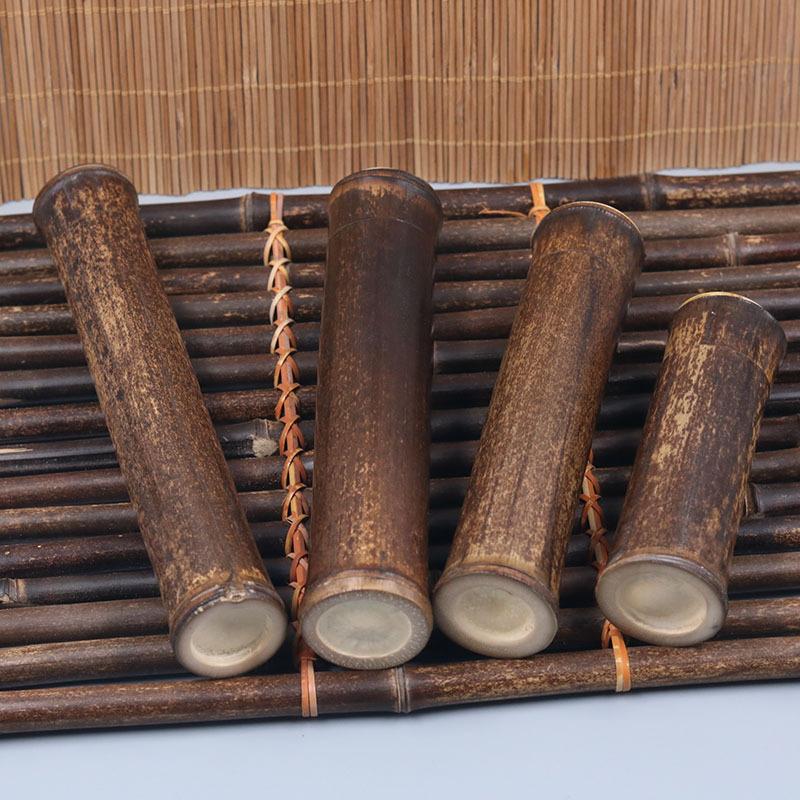 Portable de stockage du thé encens porte feuilles de thé Récipient Bambou Jar Tea Box