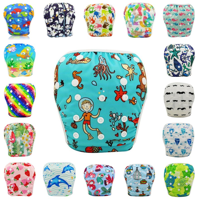 Baby Swim Waterproof Adjustable Cloth Diapers Pool Pant Swimming Cover Nappies