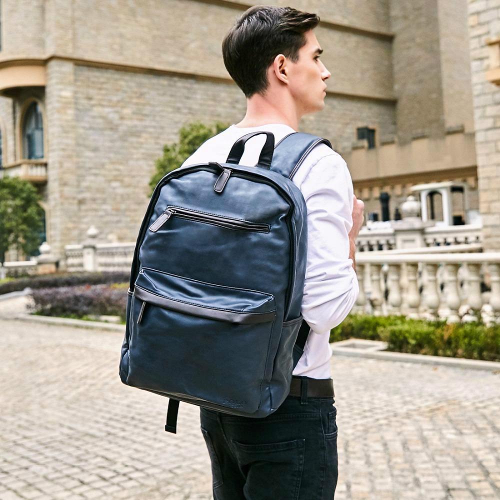 Moda Çanta Deri Erkek Dizüstü Sırt Çantası Rahat Daypacks Koleji Yüksek Kapasiteli Için Trendy Okul Sırt Çantası Erkekler Seyahat Çantası