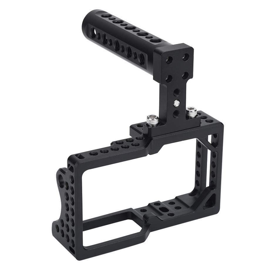 Aluminum Alloy Video Camera Cage Protector Stabilizer with top Handle kit for BMPCC DSLR