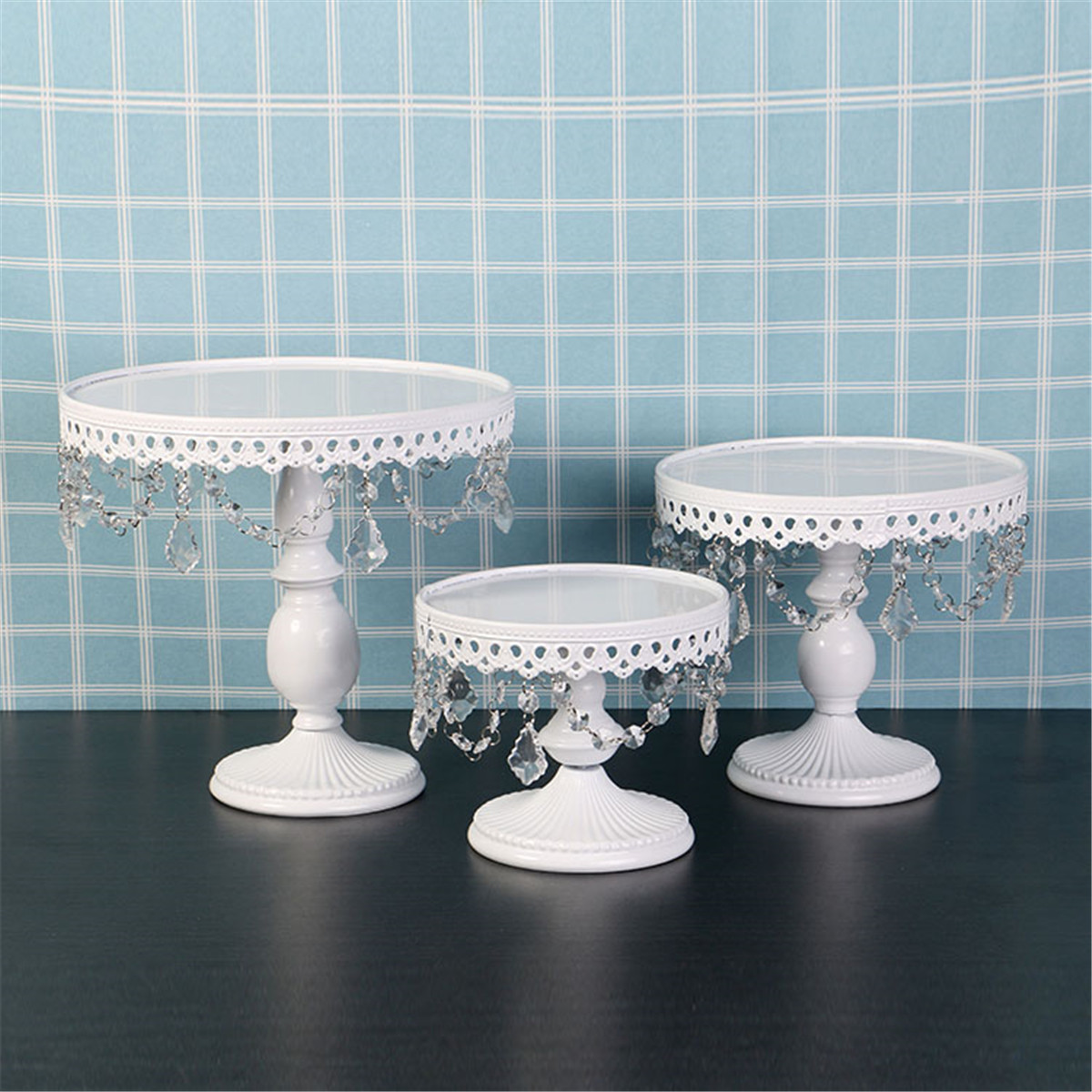 S/M/L Vintage Metal Cake Stand Cupcake Dessert Display Holder Tray Cake Tools Bridal Shower Birthday Party Wedding Decoration