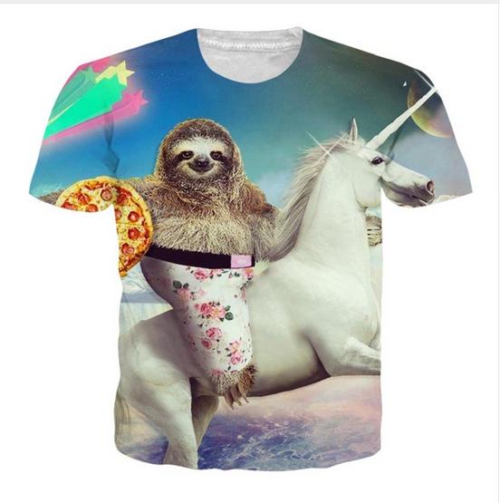 SLOTH CHILL paresseux Animal Casual Homme Femme T-shirt Imprimé Cadeau Tee Top