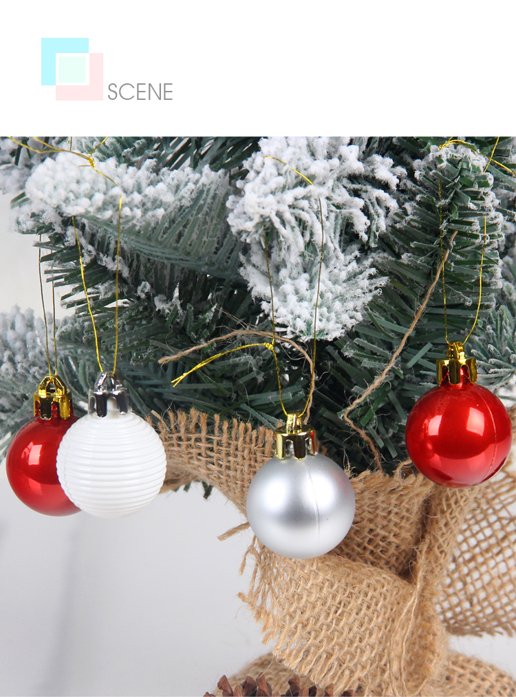 10 inhoo 49pcs Christmas Tree Ornaments Polystyrene Plastic 3cm Decor Balls Baubles Xmas Party Hanging Ball for Home Gifts 2019