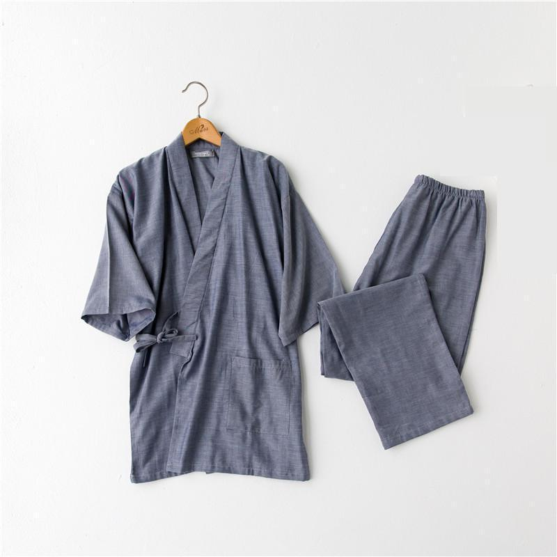 Herren Kimono Pyjamas Anzug im japanischen Stil K