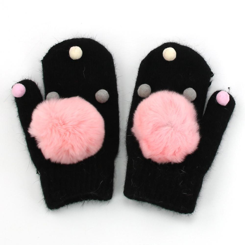 New Arrival Winter Baby Boys Girls Knitted Gloves Warm Rope Full Finger Mittens Gloves for Children Toddler Kids #c