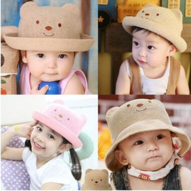 Baby Toddler Fisherman Hat Dinosaurs Stripe Pattern Cotton Sunhat with Chin Strap Boys 1-8 Years