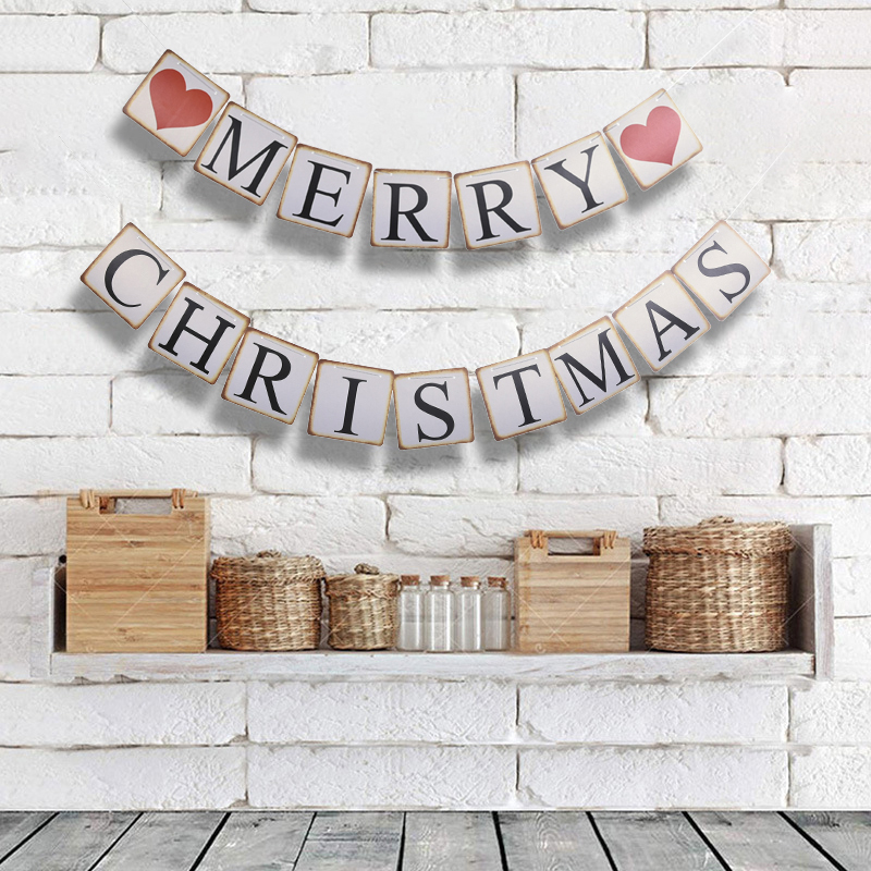 3M Merry Christmas Flag Banners Decorations For Home Bunting Party Garland Decoration Garland Xmas New Year Decor Y18102609