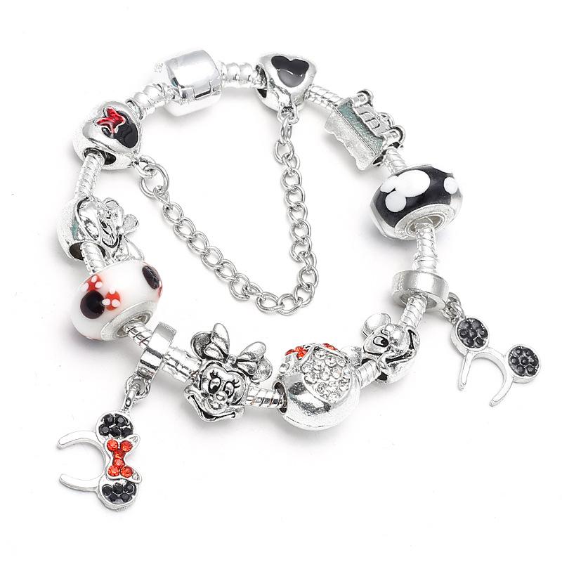 Teddy Bear Walking Stuffed Animal Toy Dangle Bead for European Charm Bracelets Fashion Jewelry for Women Man