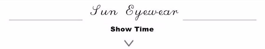sun eyewear show time