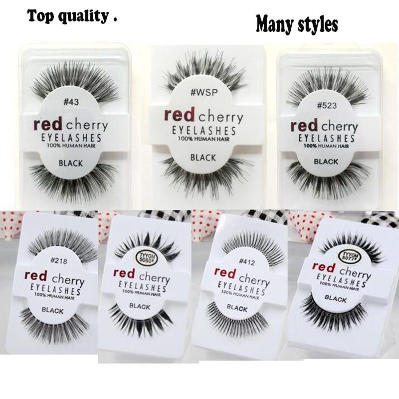 HOT makeup Red Cherry False eyelashes 13 styles Natural Long Professional makeup Big eyes High Quality DHL
