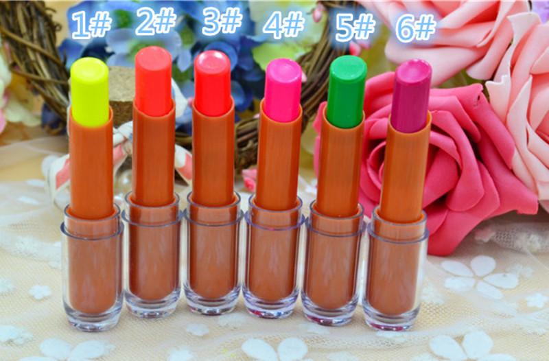UV Fluorescente Luminosa Batom Maquiagem Colorido Night Club Bar Lip Sticks Lábios Blam KTV Prom Carnaval Festival Do Partido Decor Cosméticos