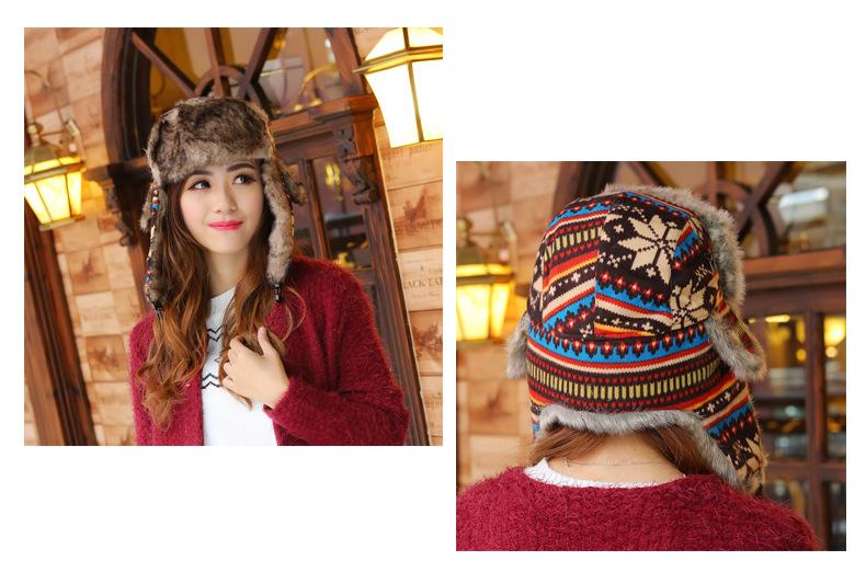 Женщины Теплые вязаные ловушки Шапочки Беруши затычки для ушей из искусственного меха шляпа зима Открытый Лыжная Ветрозащитная Шапка езда на велосипеде шапки Шапочки FFA956 12 шт.
