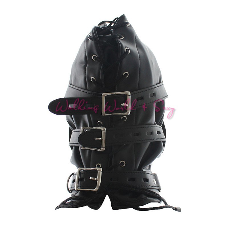 Soft Pu Leather Mask Bondage Hood With Adjustable Dildo Gag Blindfold Fetish Cosplay Slave Mask Adult Game Sex Toys For Couples (9)