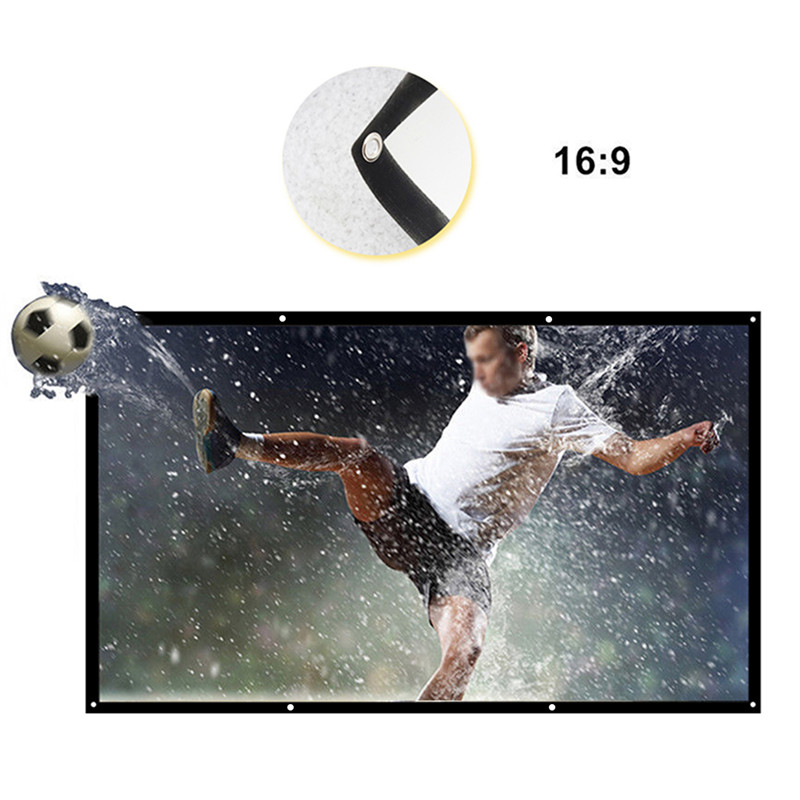 High Quality Canvas Projector Screen 120 inch 16:9 Projection Screen For XGIMI H1 H2 H1S Z6 Z3 JMGO J6S E8 UNIC UC40 UC46 Projetor