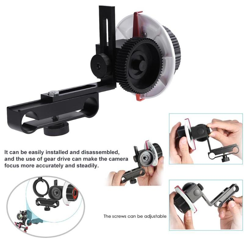 Follow Focus F0 with Adjustable Gear Ring Belt for Canon Nikon Sony DSLR Camera for Follow Focus Shooting