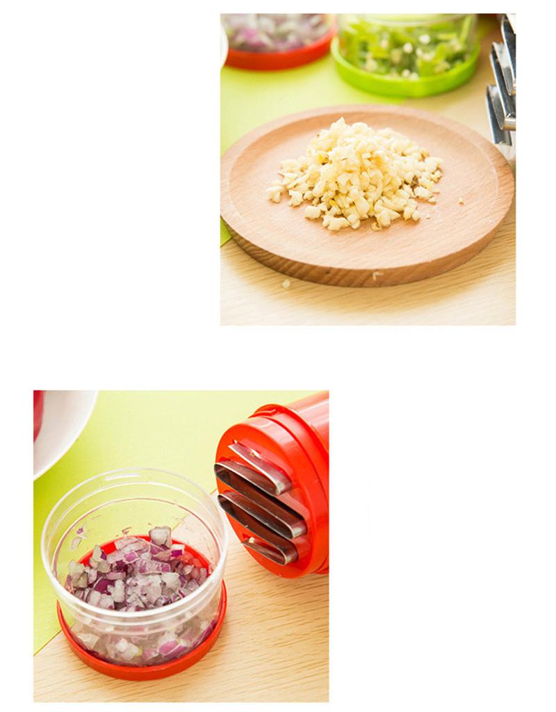 2016 New Creative Onion Slicer Multifunction Kitchen vegetable Chopper Creative Hand Garlic Press Kitchen Appliances HA115 (4)