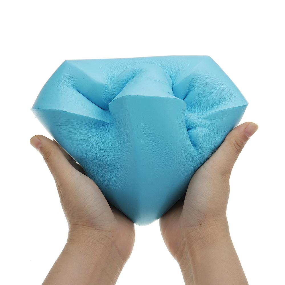 Enormes Diamantes Squishies Slow Rising Big Squeeze juguetes 21 CM Gigante para Squishy Jumbo Kids regalo divertido correa de teléfono encanto decoración del hogar