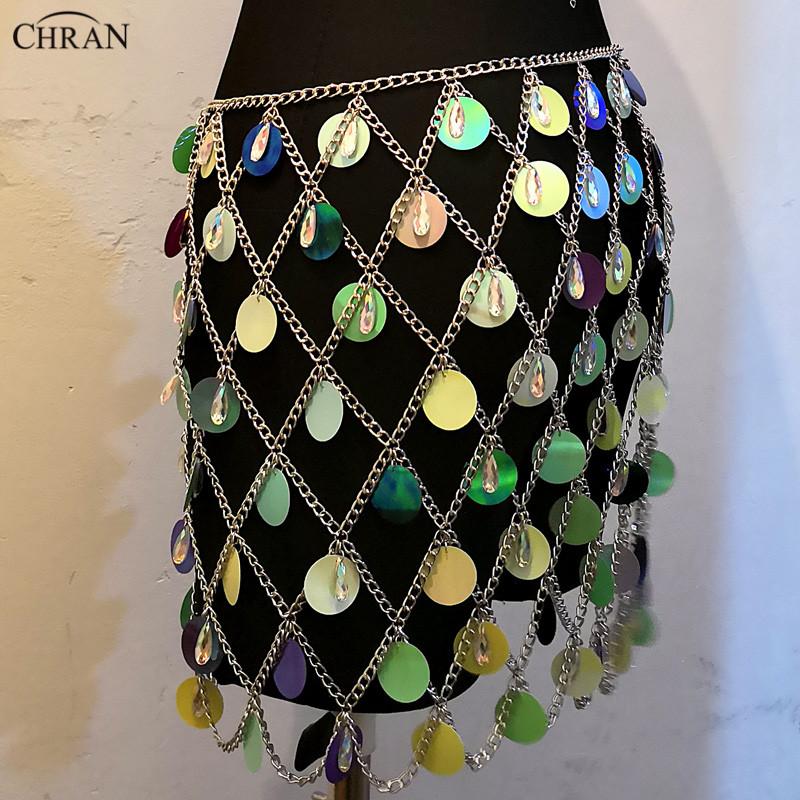 Wholesale Chran Seascale Top Bralet Belly Waist Belt Chain