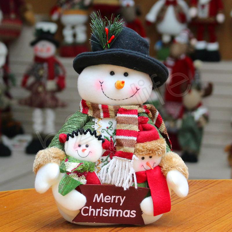De noël Santa En Peluche Jouets Partie Cadeau Mignon De Noël Esprit Poupée décoration En Peluche En Peluche Santa De Bonhomme De Neige Jouets GGA1254