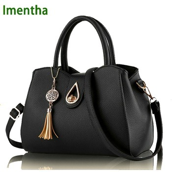2017 fashion black leather bags Women handbag Women Bag Female Women Shoulder Bags Female Bag for Girls Summer leather handbag