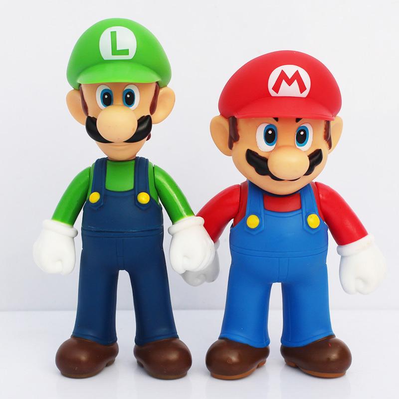 2020 Anime Super Mario Action Figures 13cm Super Mario Bros Luigi