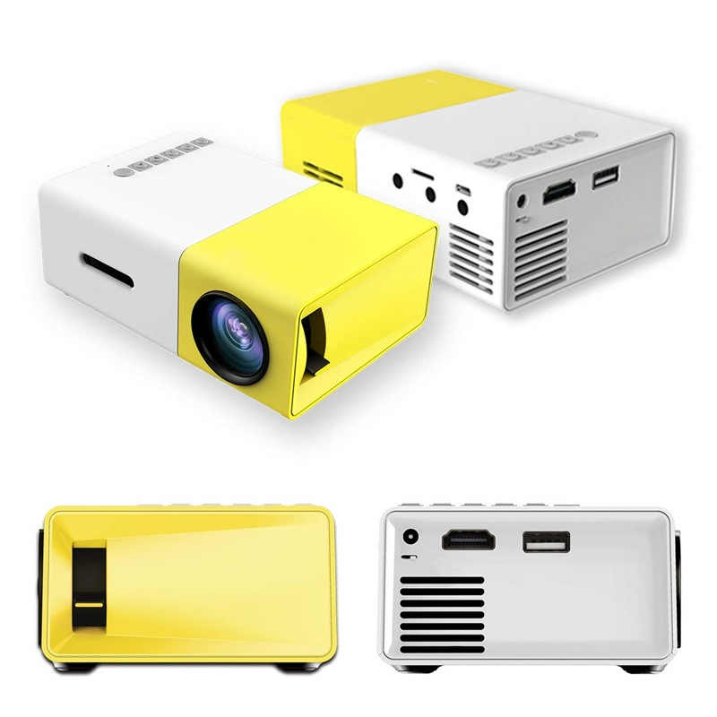 Mini Taşınabilir LED Projektör 1080 P Pico Projektör USB ile HDMI AV TF Kart Portu Mini Cep Projektör Smartphone Dizüstü PC için Uzaktan ile