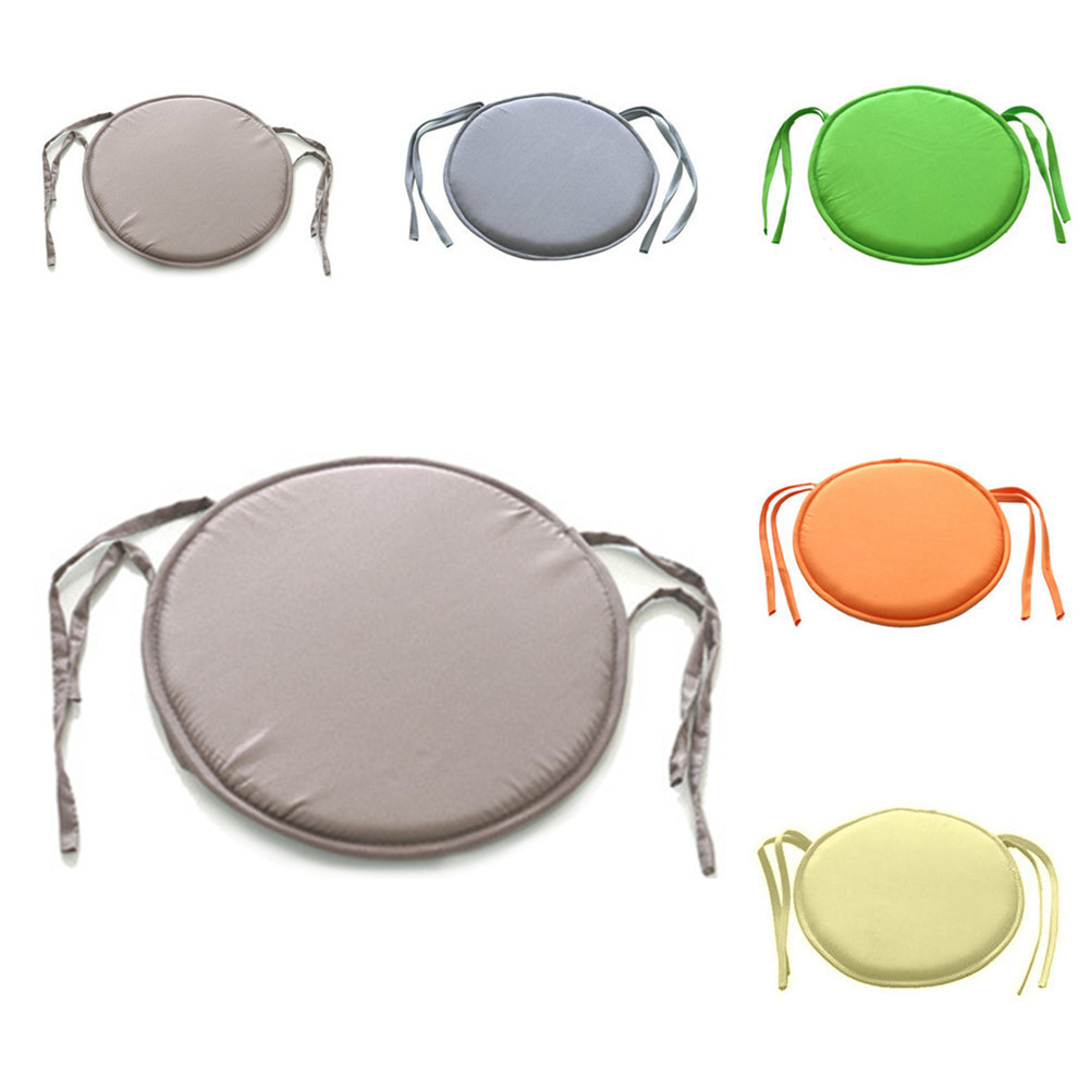 New Hot Round Chair Cushion Indoor Pop Patio Office Chair Seat Pad Tie On Square Garden Kitchen Dining Cushion
