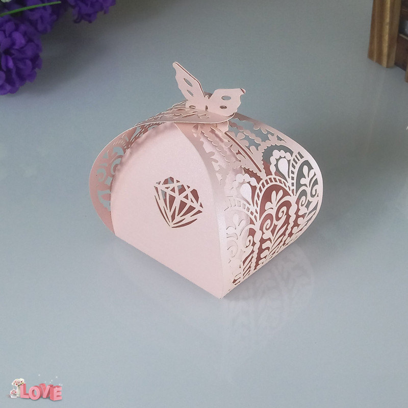 laser cut diamond pattern candy box Christmas Halloween party decorations New Year gift box candy box 5ZT55