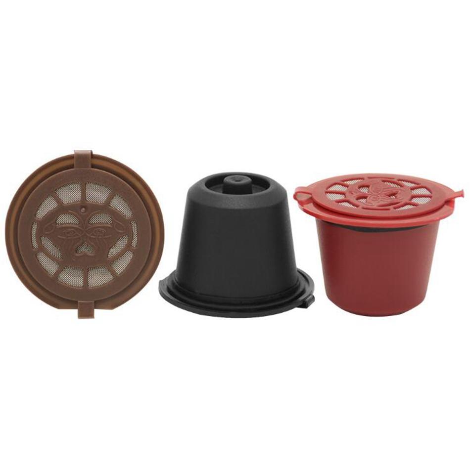 Caff/è Capsule Filtri Cestini in plastica e acciaio inox riutilizzabili capsule di caff/è riutilizzabili per macchine Nespresso Cucchiaio 6 pezzi