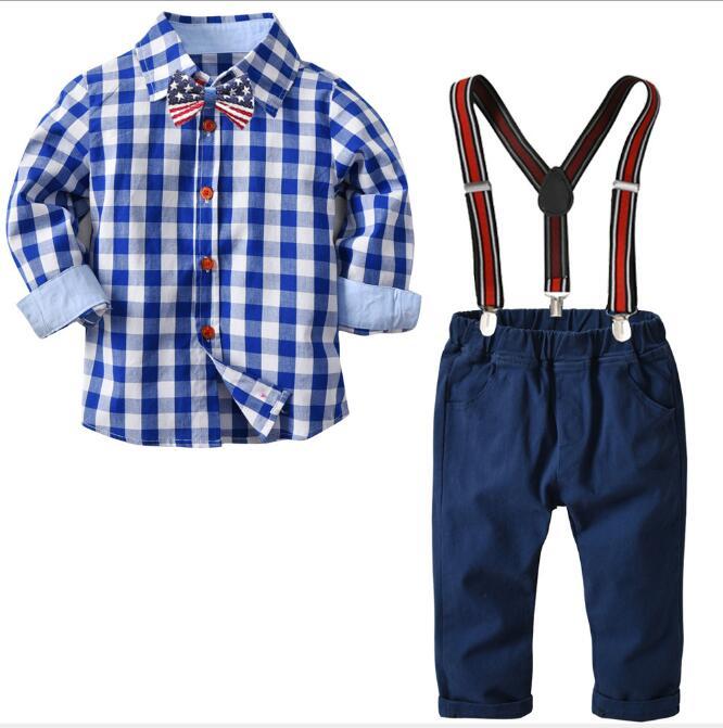 Frühlings Herbst Jungen BabyHerr beiläufige Sport Hemd Klage Kleidung stellt ein