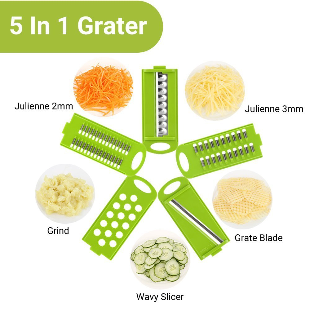 Mandoline Peeler Grater Vegetables Cutter tools with 5 Blade Carrot Grater Onion Vegetable Slicer Kitchen Accessories2
