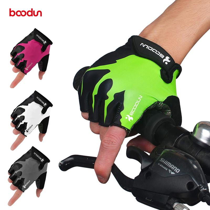 UK Antiskid Cycling Gloves MTB Bike Short Half Finger Breathable Sports Gloves