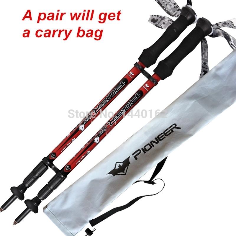 tp028 red 2 Nordic walking sticks hiking sticks alpenstock walking cane Trekking poles mountain climbing sticks hiking pole.jpg