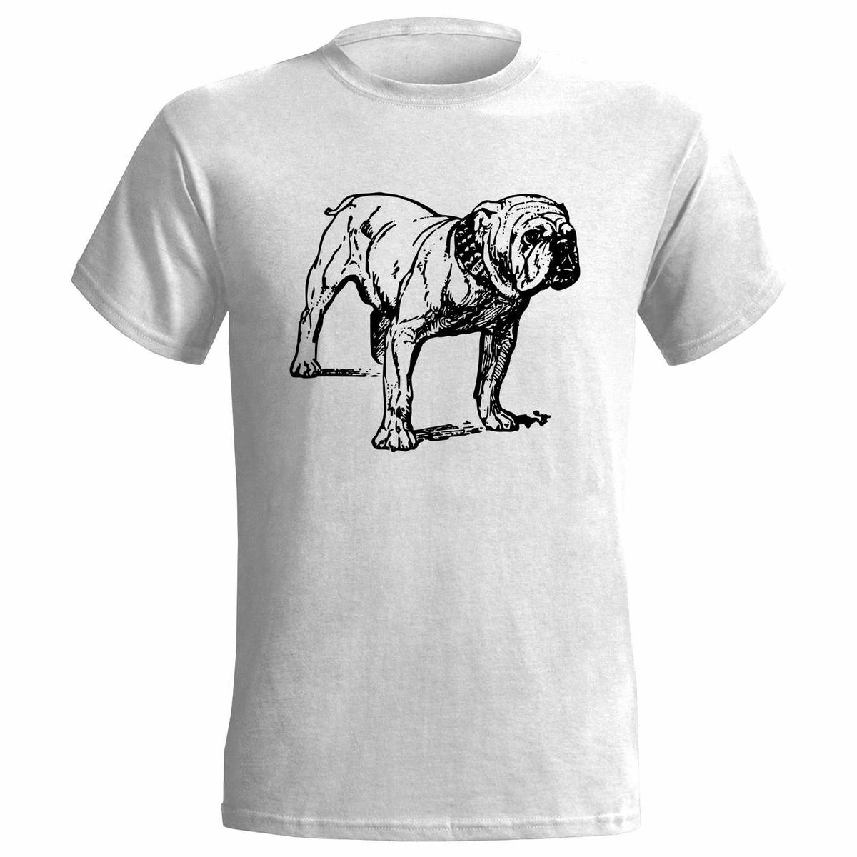 BULLDOG DOG SKETCH MENS T SHIRT PET CANINE PRESENT ART ANIMAL BRITISH