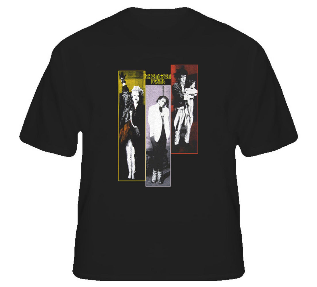 Thompson Twins 80s UK Band T Shirt Classic Cotton Men Round Collar Short Sleeve Top Tee Mens T-Shirts Sleeve Trend Clothing
