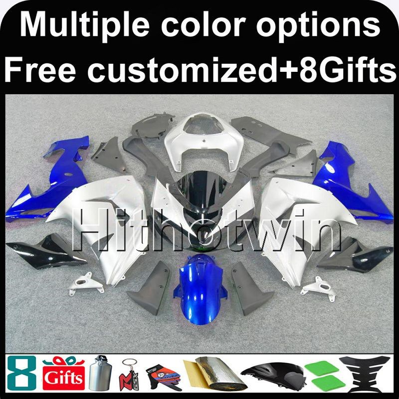 White INJECTION Fairing Bodywork Plastic Set Kawasaki ZX-6R 2000-2002 15 B7
