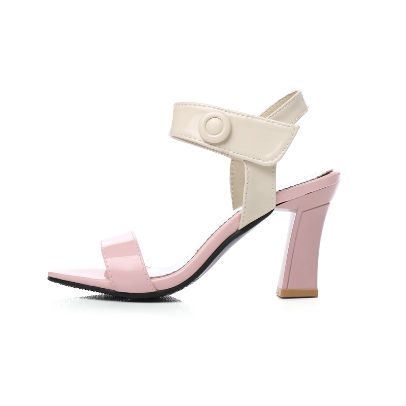 wholesale 2018 New Fashion Spring Summer Mixed Colors Women Sandals Ladies Hoof toe High Heels Shoes Woman Female Sandals CR146