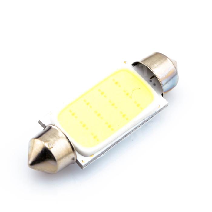 Sonline 42mm 12 SMD 3528 LED del coche blanco Interior c5w adorno de la boveda del bulbo de la lampara de luz DC 12V