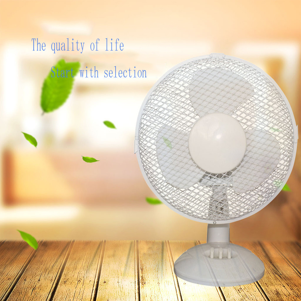 2018 New High-grade high-quality Fans Electrical 3-Speed Oscillating Desk Top Fan, 9 Inches/12 Inches, White